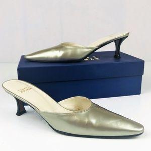 Stuart Weitzman Metallic Slide Heels